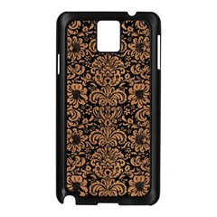 Damask2 Black Marble & Light Maple Wood Samsung Galaxy Note 3 N9005 Case (black)
