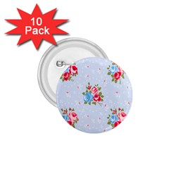 Cute Shabby Chic Floral Pattern 1 75  Buttons (10 Pack)