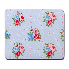 Cute Shabby Chic Floral Pattern Large Mousepads