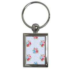 Cute Shabby Chic Floral Pattern Key Chains (rectangle)