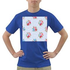 Cute Shabby Chic Floral Pattern Dark T Shirt
