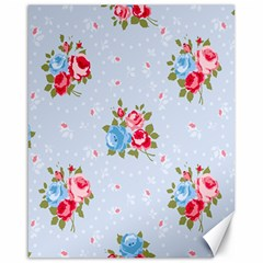 Cute Shabby Chic Floral Pattern Canvas 16  X 20