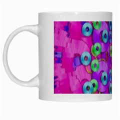 Festive Metal And Gold In Pop Art White Mugs