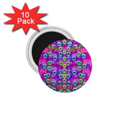 Festive Metal And Gold In Pop Art 1 75  Magnets (10 Pack)