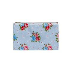 Cute Shabby Chic Floral Pattern Cosmetic Bag (small)