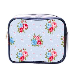 Cute Shabby Chic Floral Pattern Mini Toiletries Bags