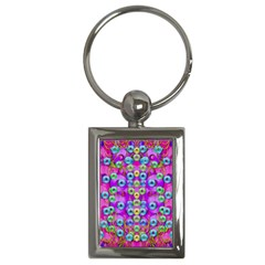 Festive Metal And Gold In Pop Art Key Chains (rectangle)