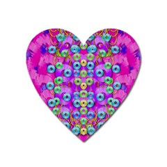 Festive Metal And Gold In Pop Art Heart Magnet