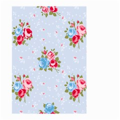 Cute Shabby Chic Floral Pattern Small Garden Flag (two Sides)
