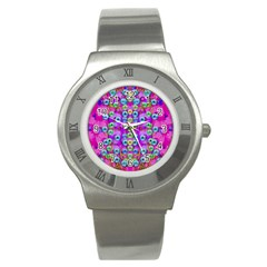 Festive Metal And Gold In Pop Art Stainless Steel Watch