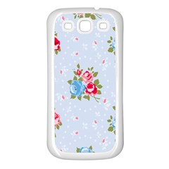 Cute Shabby Chic Floral Pattern Samsung Galaxy S3 Back Case (white)