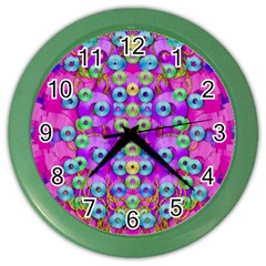 Festive Metal And Gold In Pop Art Color Wall Clocks