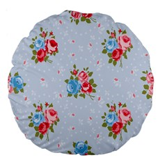 Cute Shabby Chic Floral Pattern Large 18  Premium Flano Round Cushions