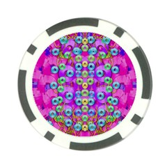Festive Metal And Gold In Pop Art Poker Chip Card Guard