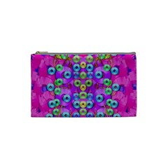 Festive Metal And Gold In Pop Art Cosmetic Bag (small)