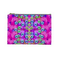 Festive Metal And Gold In Pop Art Cosmetic Bag (large)