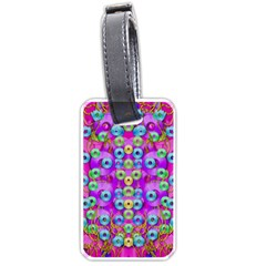 Festive Metal And Gold In Pop Art Luggage Tags (one Side)