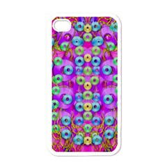 Festive Metal And Gold In Pop Art Apple Iphone 4 Case (white)