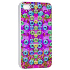 Festive Metal And Gold In Pop Art Apple Iphone 4/4s Seamless Case (white)