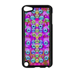 Festive Metal And Gold In Pop Art Apple Ipod Touch 5 Case (black)