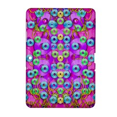 Festive Metal And Gold In Pop Art Samsung Galaxy Tab 2 (10 1 ) P5100 Hardshell Case