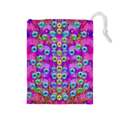 Festive Metal And Gold In Pop Art Drawstring Pouches (large)