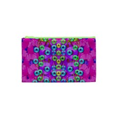 Festive Metal And Gold In Pop Art Cosmetic Bag (xs)