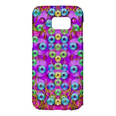 Festive Metal And Gold In Pop Art Samsung Galaxy S7 Edge Hardshell Case