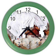 French Coffee Style Abstract Art Color Wall Clocks