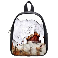 French Coffee Style Abstract Art School Bag (small)