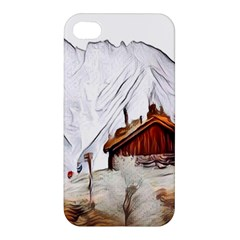 French Coffee Style Abstract Art Apple Iphone 4/4s Premium Hardshell Case