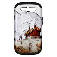 French Coffee Style Abstract Art Samsung Galaxy S Iii Hardshell Case (pc+silicone)