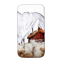 French Coffee Style Abstract Art Samsung Galaxy S4 I9500/i9505  Hardshell Back Case