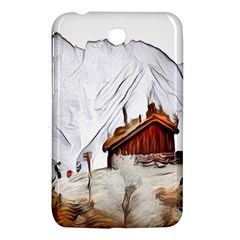 French Coffee Style Abstract Art Samsung Galaxy Tab 3 (7 ) P3200 Hardshell Case