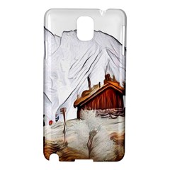 French Coffee Style Abstract Art Samsung Galaxy Note 3 N9005 Hardshell Case