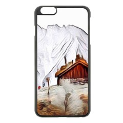 French Coffee Style Abstract Art Apple Iphone 6 Plus/6s Plus Black Enamel Case