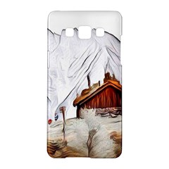 French Coffee Style Abstract Art Samsung Galaxy A5 Hardshell Case