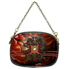 Wonderful Floral Design With Diamond Chain Purses (one Side)