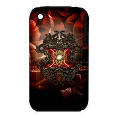 Wonderful Floral Design With Diamond Iphone 3s/3gs