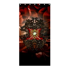 Wonderful Floral Design With Diamond Shower Curtain 36  X 72  (stall)