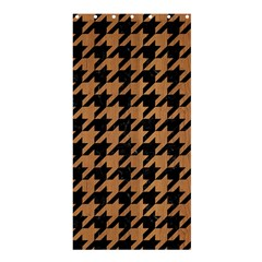 Houndstooth1 Black Marble & Light Maple Wood Shower Curtain 36  X 72  (stall)
