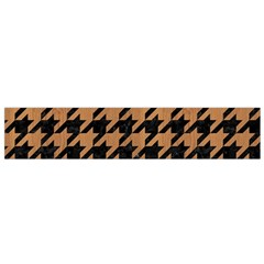 Houndstooth1 Black Marble & Light Maple Wood Flano Scarf (small)