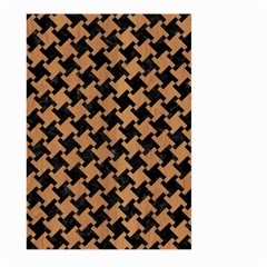 Houndstooth2 Black Marble & Light Maple Wood Large Garden Flag (two Sides)