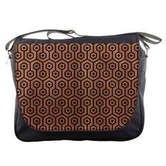 Hexagon1 Black Marble & Light Maple Wood (r) Messenger Bags