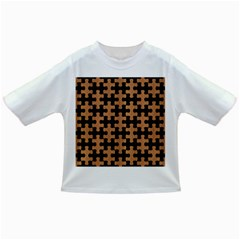Puzzle1 Black Marble & Light Maple Wood Infant/toddler T Shirts