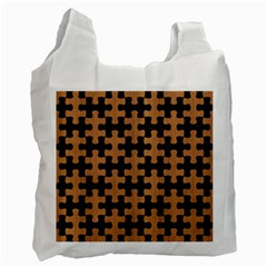 Puzzle1 Black Marble & Light Maple Wood Recycle Bag (two Side)
