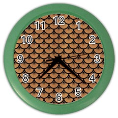 Scales3 Black Marble & Light Maple Wood (r) Color Wall Clocks