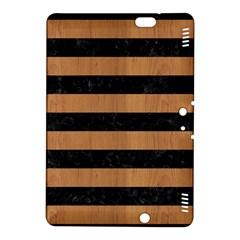 Stripes2 Black Marble & Light Maple Wood Kindle Fire Hdx 8 9  Hardshell Case