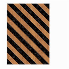Stripes3 Black Marble & Light Maple Wood (r) Large Garden Flag (two Sides)