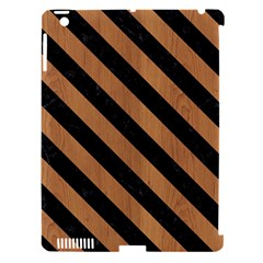 Stripes3 Black Marble & Light Maple Wood (r) Apple Ipad 3/4 Hardshell Case (compatible With Smart Cover)